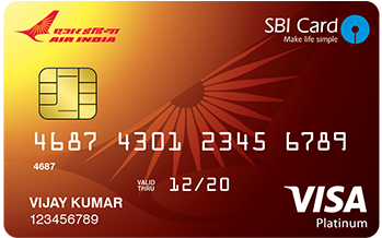 State Bank of India Air India Sbi Platinum Card Credit Card Apply Online