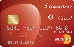 ICICI Bank Icici Bank Coral Credit Card Apply Online