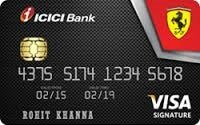 Icici Bank Ferrari Signature Credit Card