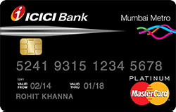 Icici Bank Unifare Mumbai Metro Credit Card