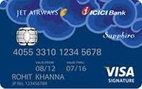 Jet Airways Icici Bank Sapphiro Credit Cards