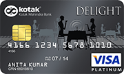 Kotak Mahindra Bank Delight Platinum Credit Card
