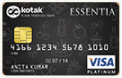 Kotak Mahindra Bank Essentia Platinum Credit Card