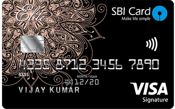 State Bank of India Sbi Card Elite Credit Card Apply Online