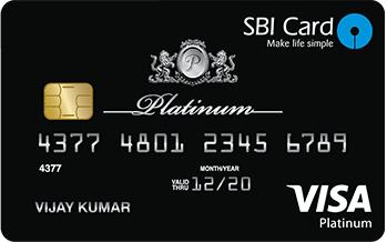 State Bank of India Sbi Platinum Card Credit Card Apply Online