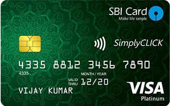 State Bank of India Simplyclick Sbi Card Credit Card Apply Online