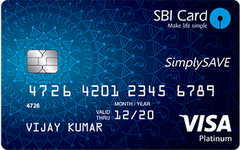 State Bank of India Simplysave Sbi Card Credit Card Apply Online
