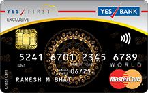 Yes Bank Yes First Exclusive Credit Card Apply Online