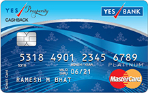 Yes Bank Yes Prosperity Cashback Credit Card Apply Online