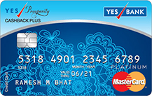 Yes Bank Yes Prosperity Cashback Plus Credit Card Apply Online